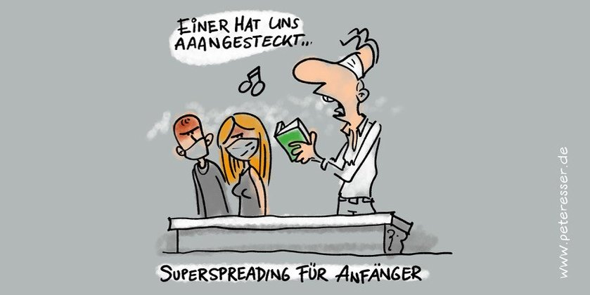 Einer hat uns angesteckt (c) Illustration: Peter Esser